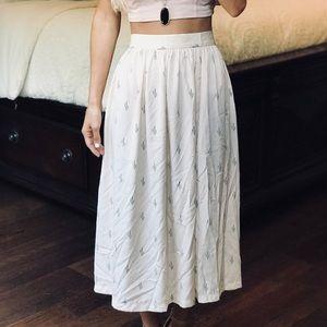 Anthropologie Christine Alcalay Cactus Midi Skirt